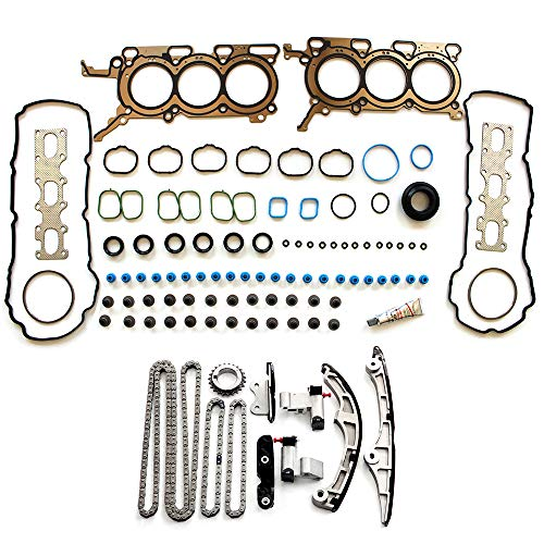 SCITOO Timing Chain kit Head Gasket Set fits for 2009 Ford Flex,2008-2012 Ford Taurus,2007 2008 2009 Lincoln MKZ,2007 Mazda CX-9,2007 2008 2009 Ford Edge