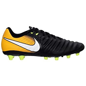 Nike Unisex-Kinder Jr. Tiempo Ligera IV FG Fußballschuhe, Schwarz (Black/White-Laser Orange-Volt), 36.5 EU