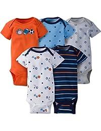 Baby Boys' 5-Pack Short-Sleeve Onesies