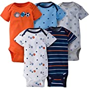 Gerber Baby Boys 5 Pack Onesies, Lil' Athlete, Newborn