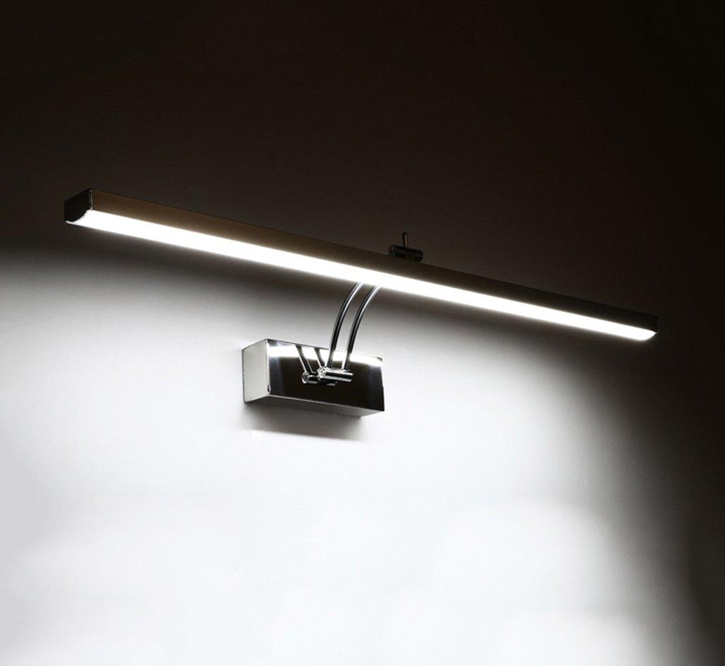 badezimmerlampe LED-Spiegel vorne Lichter, Bad Spiegel Licht moderne wasserdichte Anti-Nebel Spiegel Wandleuchte Schminklicht (Farbe   weißes Licht-71cm)