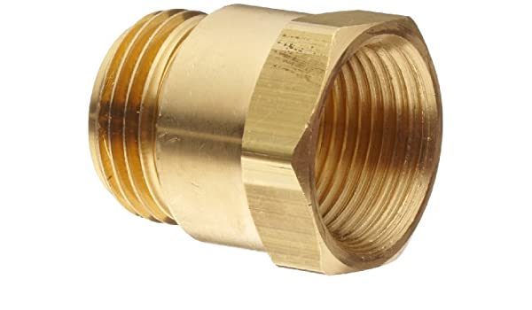 3//4 GHT Male x 3//4 NPTF Female Dixon BA796 Brass Fitting Adapter