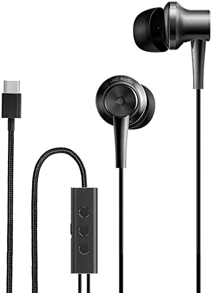 Amazon Com Original Xiaomi Anc Earphone Type C Noise Cancelling Earphone Wired Control With Mic For Xiaomi Max 2 Mi6 Smartphone Hybrid Hd Home Audio Theater