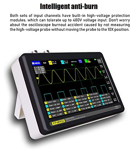 s Sampling Rate Oscilloscope 7inch Color TFT LCD Touch Screen Tablet Oscilloscope Wistek Digital Oscilloscope 2 Channel 100MHz Bandwidth Multifunction Oscilloscope 1GSa