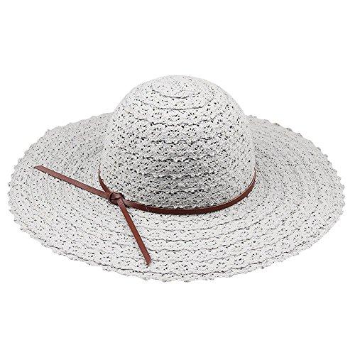 Miki Da Foldable Cotton Beach Hat For Women Floppy Big Brim