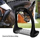 Yosooo Horse Riding Stirrups, Aluminum Stirrup with Stainless Steel Anti-Slip Pad for Equestrian
