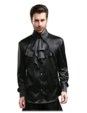 bb9261aaae80 Steampunk 100% Mulberry Silk Dress Shirt Cravat Set at Amazon Men's ...