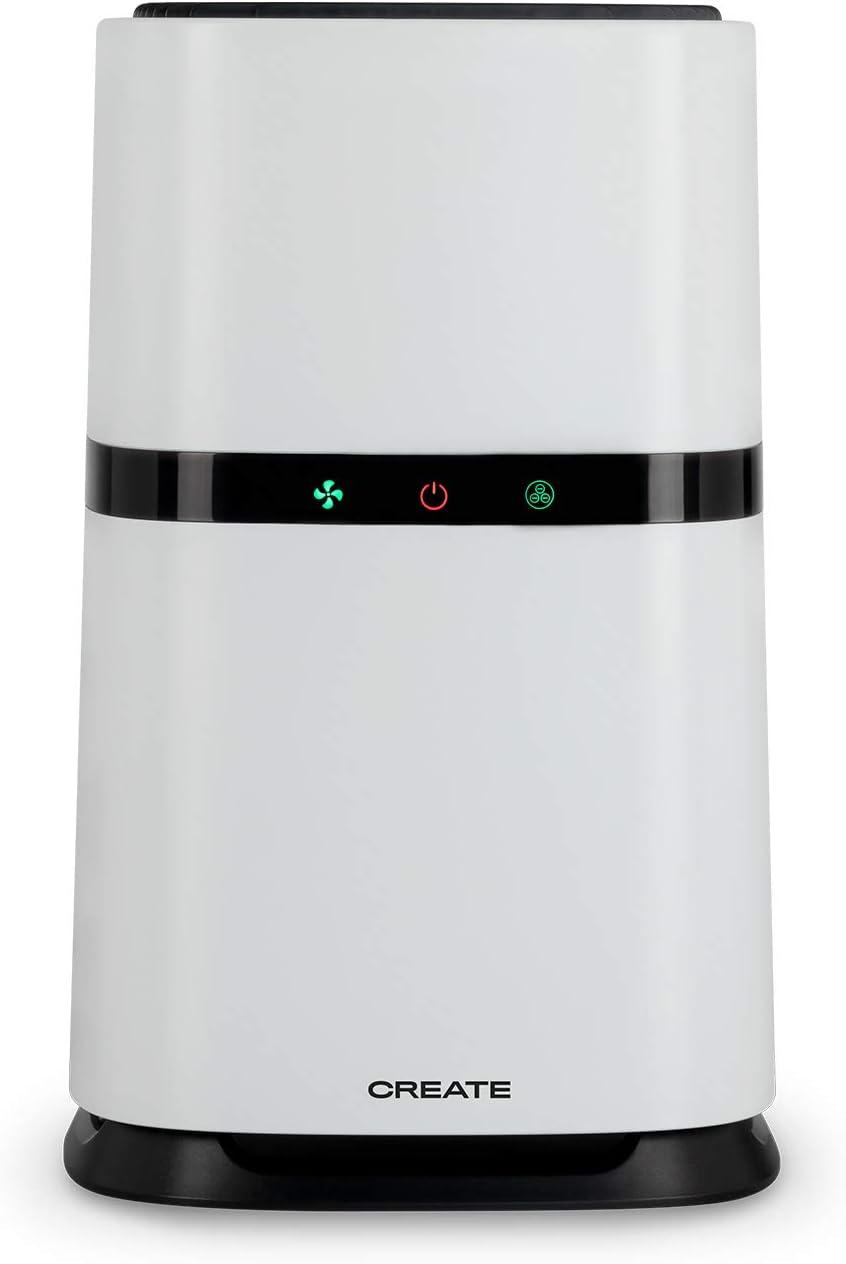 IKOHS Create BIOZEN - Purificador Aire, Aire Limpio de 100m³/h, Velocidad Ajustable 3 Niveles, hasta 12m², Dispone de Modo Noche, Indicador Inteligente de Cambio de Filtro Hepa y carbón Activo