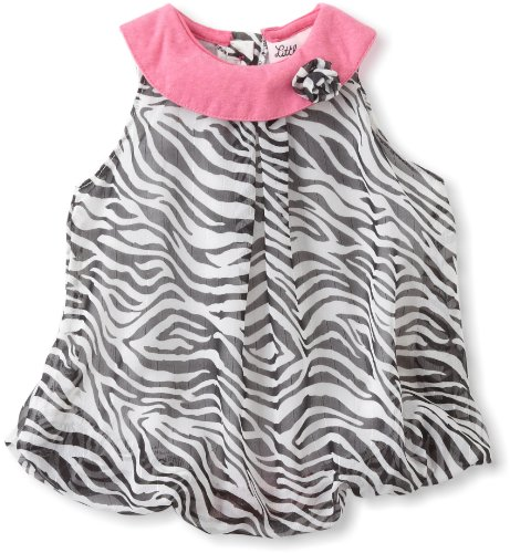 Little Lass Baby Girls' Zebra Bubble Dress