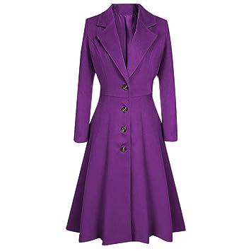 Rawdah_Donna Donne Steampunk Cappotti Moda Colore Solido
