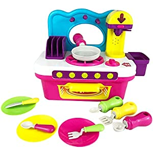 Boley Kitchen Playset - Play kitchen equipped with accessories, lights and sound - perfection educational toy for the home and kitchen offering hours of pretend play!