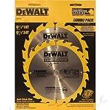 DeWalt DW9158 6-1/2' Circular Saw Blade Combo Twin Pack 18T & 24T...