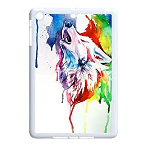 LSQDIY(R) Howling wolf iPad Mini Hard Back Case, Personalized iPad Mini Case Howling wolf
