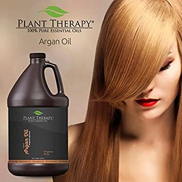 Amazon.com : Plant Therapy Moroccan Argan Oil. 100% Pure & USDA Organic, First-Press, Virgin, For Face, Hair, Skin, Nails & Cuticles. 1 gal. : Beauty