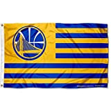 WinCraft Golden State Warriors Americana Stripes Nation 3x5 Flag