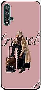 For Huawei Nova 5 Case Travel Lover Girl