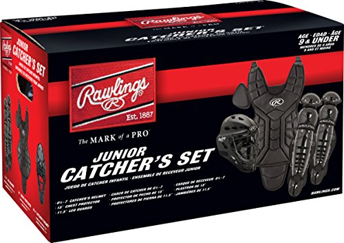 (Rawlings Sporting Goods Catcher Set Players Series (Below 9), Black)