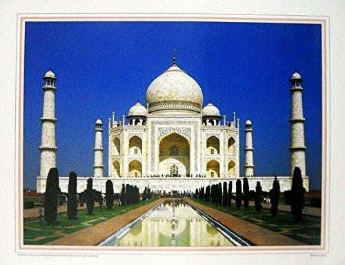 Taj Mahal Indian Poster/ Art of India: Reprint on Paper