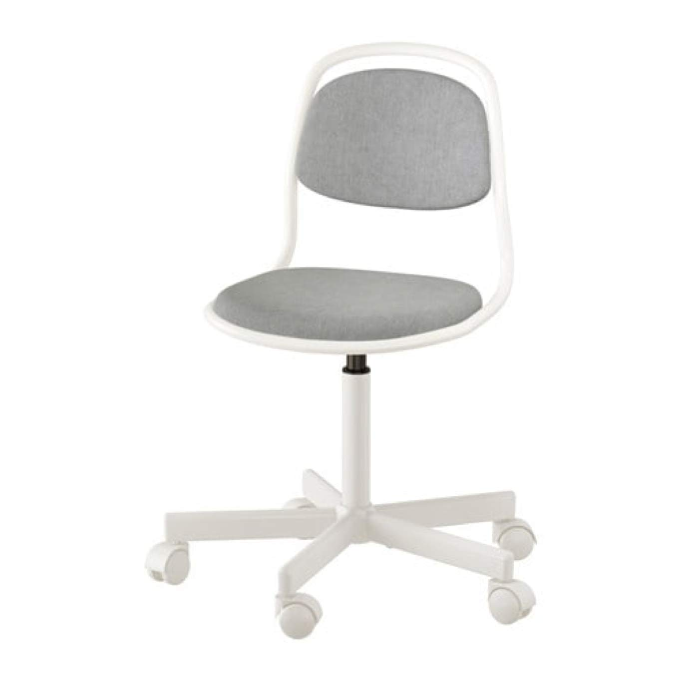 Amazon.com: IKEA Orfjall Childu0027s Desk Chair White Vissle Light Gray  703.202.39: Home U0026 Kitchen