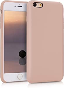 kwmobile TPU Silicone Case Compatible with Apple iPhone 6 Plus / 6S Plus - Case Slim Protective Phone Cover with Soft Finish - Dusty Pink