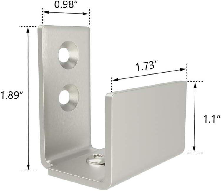 Homlux Heavy Duty Sliding Barn Door Floor Guide-Adjustable Roller 8 Type for You Opt Flush Bottom Design Barn Door Floor Guide-Top Quality Roller