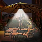 OYOCO Patio Umbrella Light 3 Brightness Modes Cordless 28 LED Lights at 200 lumens- 4 x AA Battery Operated, Umbrella Pole Light for Patio Umbrellas, Camping Tents or Outdoor Use (Black)