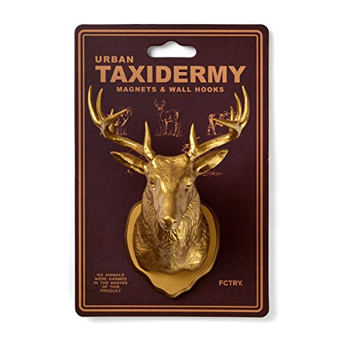 [Urban Taxidermy Magnet and Wall Hook Deer - Gold] (Easy Bane Costumes)