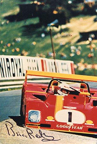 Brian Redman F1 autograph, British Formula One driver, signed photograph