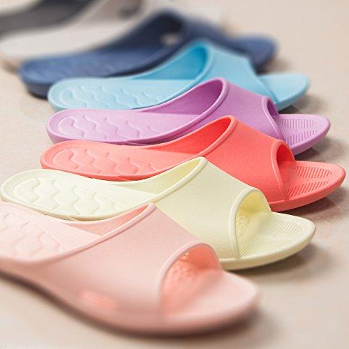 con marino suela YMFIE de zapatos piscina mujer de azul espuma y de suave para zapatos Zapatillas baño qtwOrIxUta