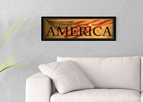 America Printed on 30x10 Canvas Wall Art by Pennylane