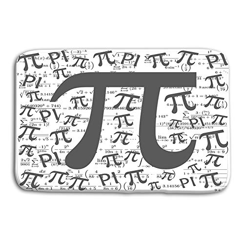 zexuandiy Non Slip Backing Entrance Rug Floor Indoor Outdoor Bathroom Doormat 23.6x15.7 pi Symbol Mathematical Constant Irrational Number Many Formulas Greek Letter ()