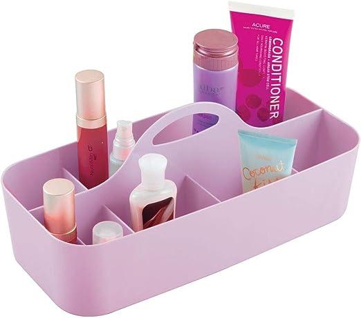 mDesign Caja con asa portátil de plástico – Organizador de Oficina ...