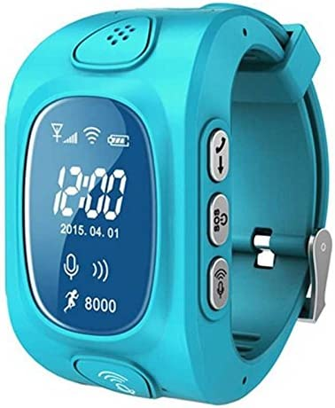 Eoncore GPS/GSM/Wifi Tracker Watch for Kids Children Smart Watch with SOS Support 2G GSM phone Android IOS Anti Lost Y3 (Blue)
