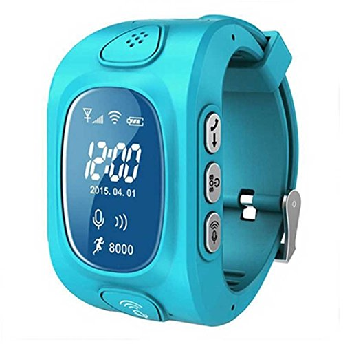 Eoncore GPS/GSM/Wifi Tracker Watch for Kids Children Smart Watch with SOS Support GSM phone Android IOS Anti Lost Y3 (Blue)