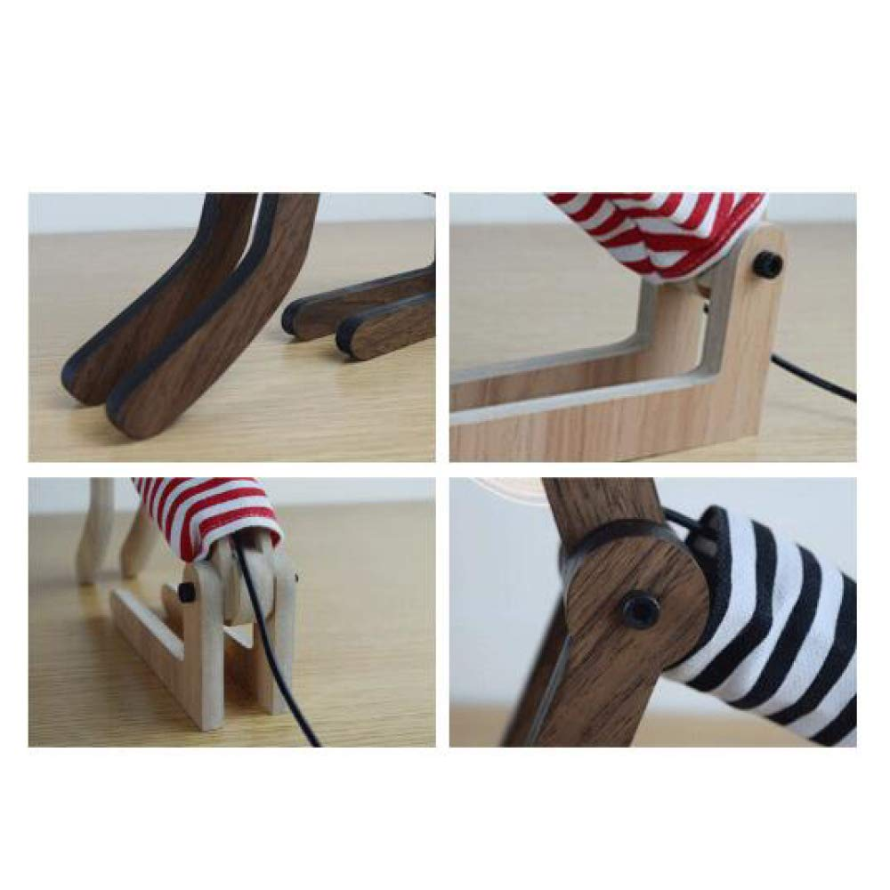 XIAOLONGY Europäische Kreative Tischleuchte 3D Seltsame Geschenk LED Paar USB USB USB Gas Atmosphäre Augen Bett Hund Nachtlicht,USBadjustablelightsource(W) c31070