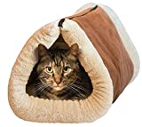 heated blanket cat - Kitty Shack - 2 in 1 Tube Cat Mat and Bed, Pet Accessories