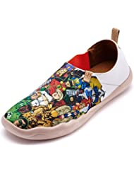 UIN Men's Super Man Printed Canvas Shoe White