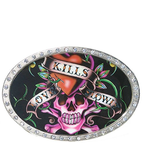 Ed Hardy EH6011A Love Kills Slowly Buckle -