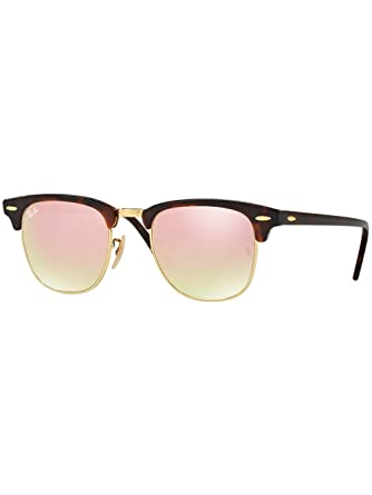 ee52d4776f Amazon.com  Ray-Ban CLUBMASTER RB 3016 Shiny RED Havana Copper Shaded 49 21 140  Men Sunglasses  Watches