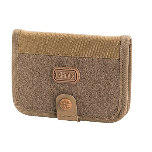M-Tac Elite Large Tactical Wallet Mens Army Bifold Nylon Snap Closure (Coyote) - Fold Bi Snap