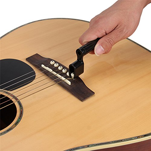 1 Pc Black Acoustic Electric Guitar String Winder Turning Peg Bridge Pin Removal Tool Hard Plastic Black (Best Thailand Pc Brands)