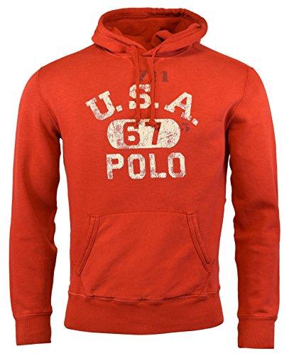 Polo Ralph Lauren Men's Fleece Hoodie Medium Polo (Polo Red Sweatshirt)