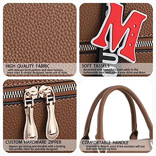 bandolera de bolsos Caqui asa con Shoppers Bolsos mujer y mano Bolsos hombro de Carteras para TSwnx