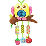 Biubee Baby Stroller Toys with Wind Chime - Infant Hanging Owl Toys for Crib Bed Bassinet Stroller Rail