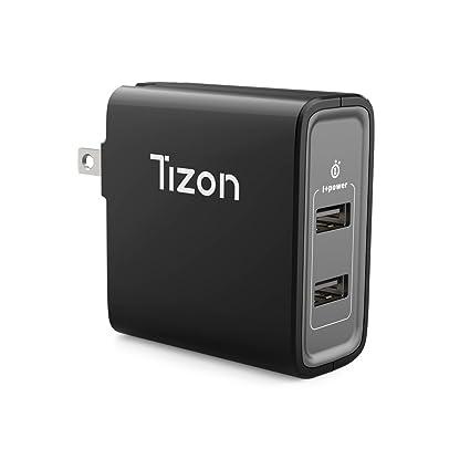 Amazon.com: 24 W 2-Port USB Travel Cargador de pared w/I + ...