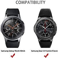 Aottom Compatible para Correa Samsung Gear S3 Frontier Cuero,Correas Reloj Galaxy Watch 46mm Banda Reemplazo de Pulseras de repuesto Samsung Gear S3 ...