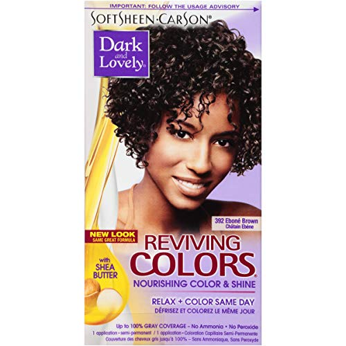 SoftSheen-Carson Dark and Lovely Reviving Colors Nourishing Color & Shine, Ebone Brown 392