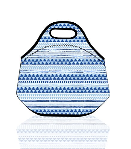 Pattern Portable Zippered Insulated Handbag product image