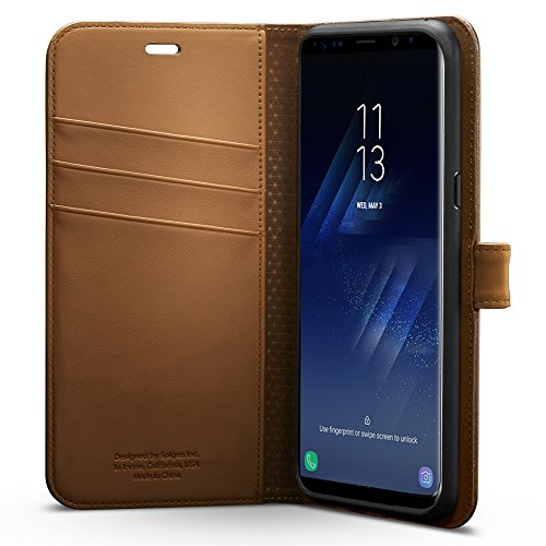 Spigen Wallet S Galaxy S8 Case with Foldable Cover and