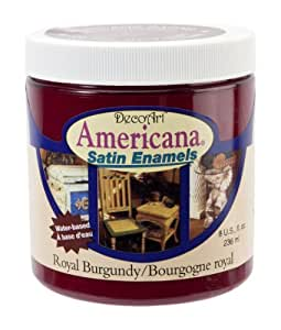 DecoArt DSA14-36 Americana Satin Enamels, 8-Ounce, Royal Burgundy